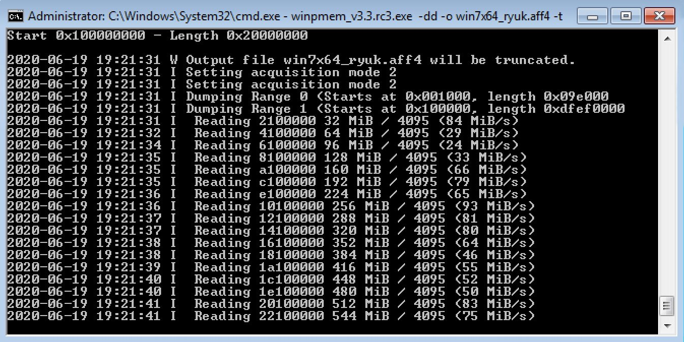 WinPmem Collecting Memory in AFF4 Format