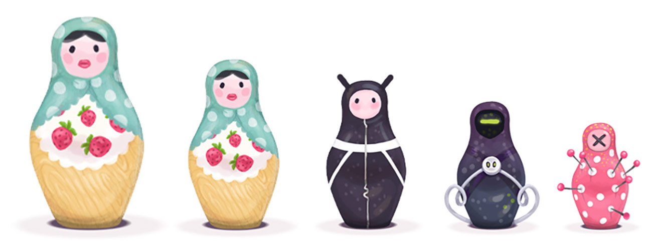 Objects are made of matryoshka-like layers of structured code and data.