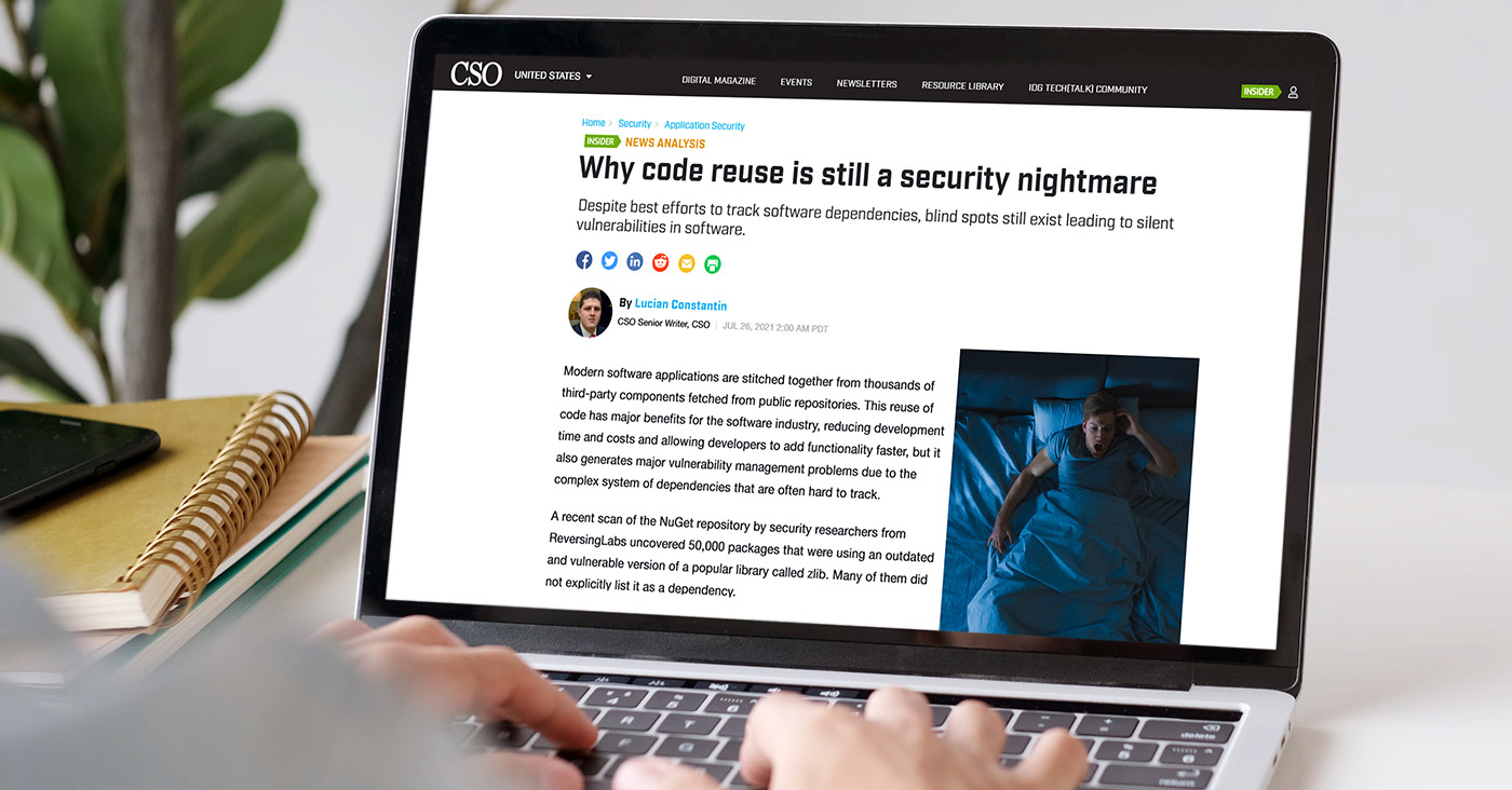 CSO: Why code reuse is still a security nightmare
