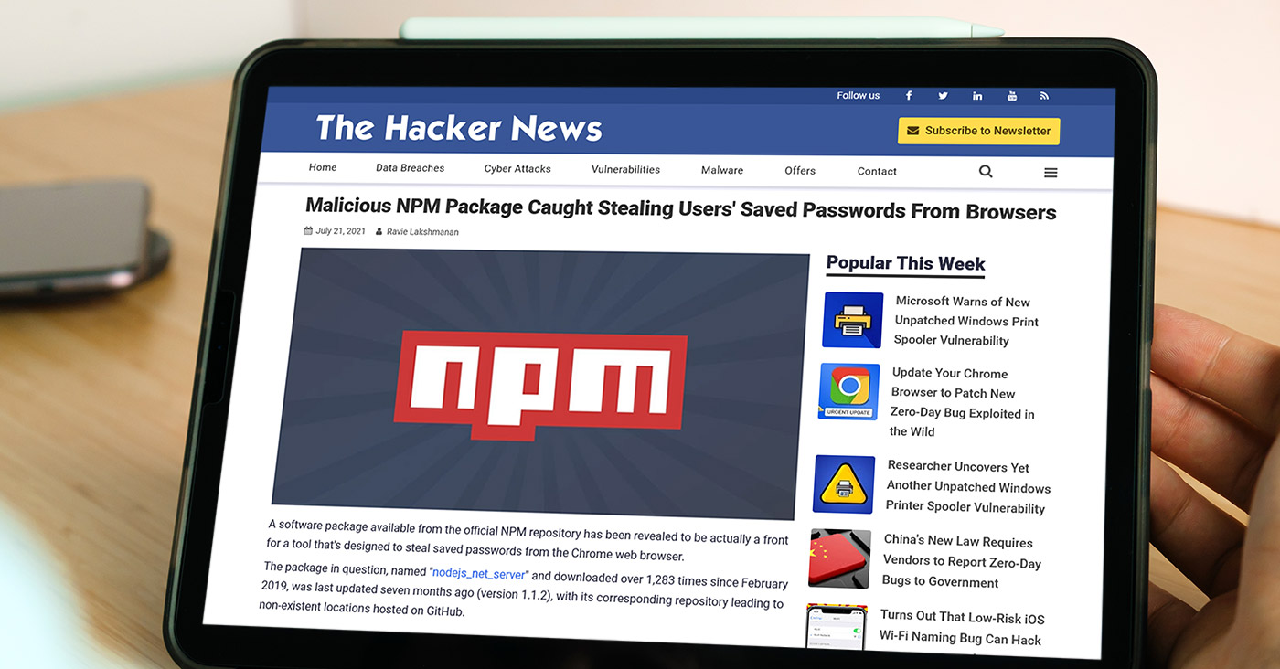 The Hacker News - Malicious NPM Package