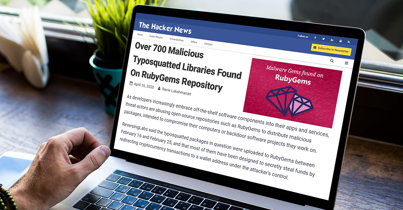 Over 700 Malicious Typosquatted Libraries Found On RubyGems Repository