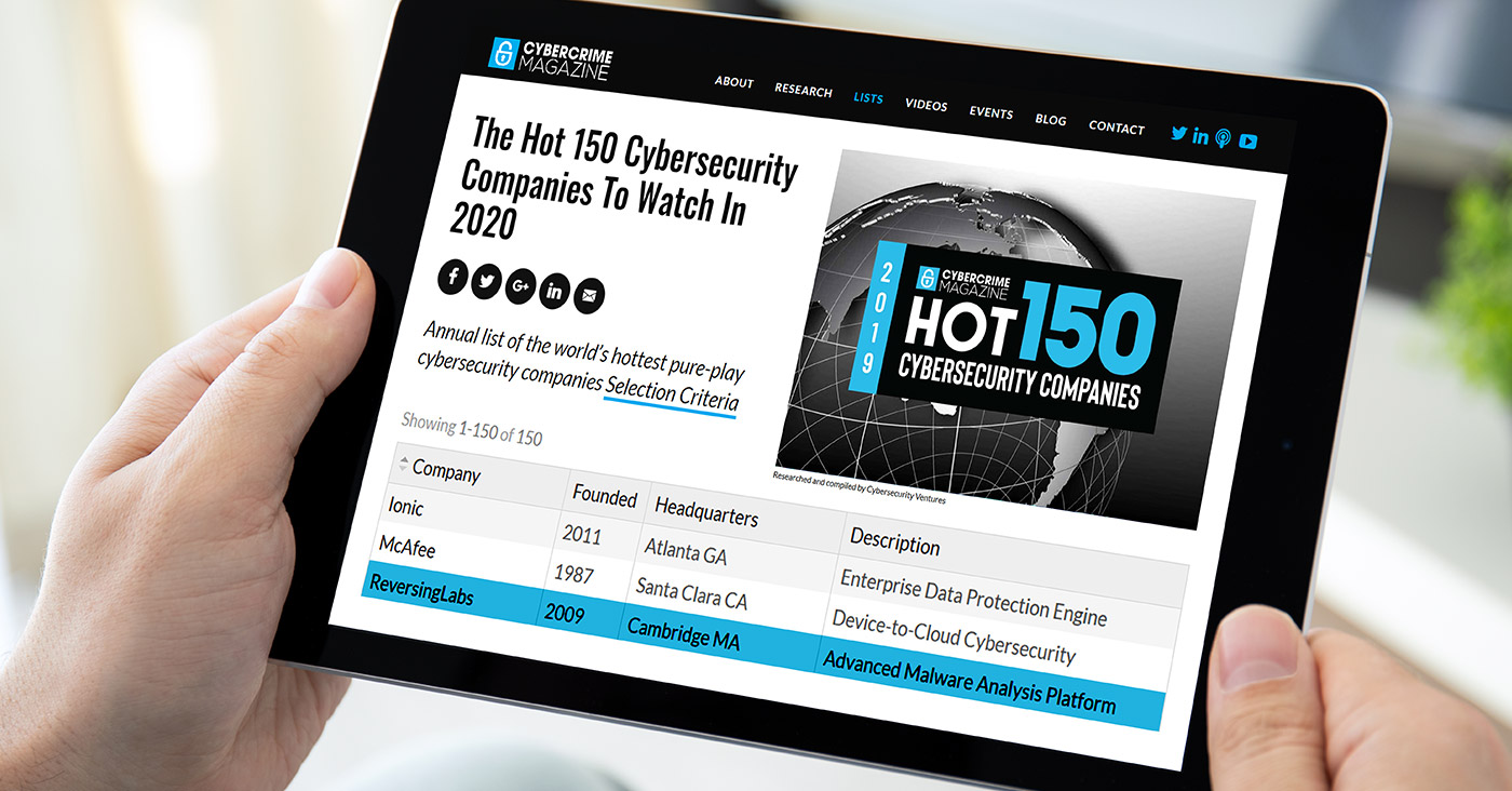 The Hot 150 Cybersecurity Companies To Watch In 2020