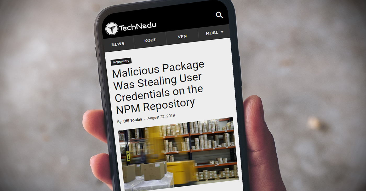 Malicious Package Was Stealing User Credentials on the NPM Repository
