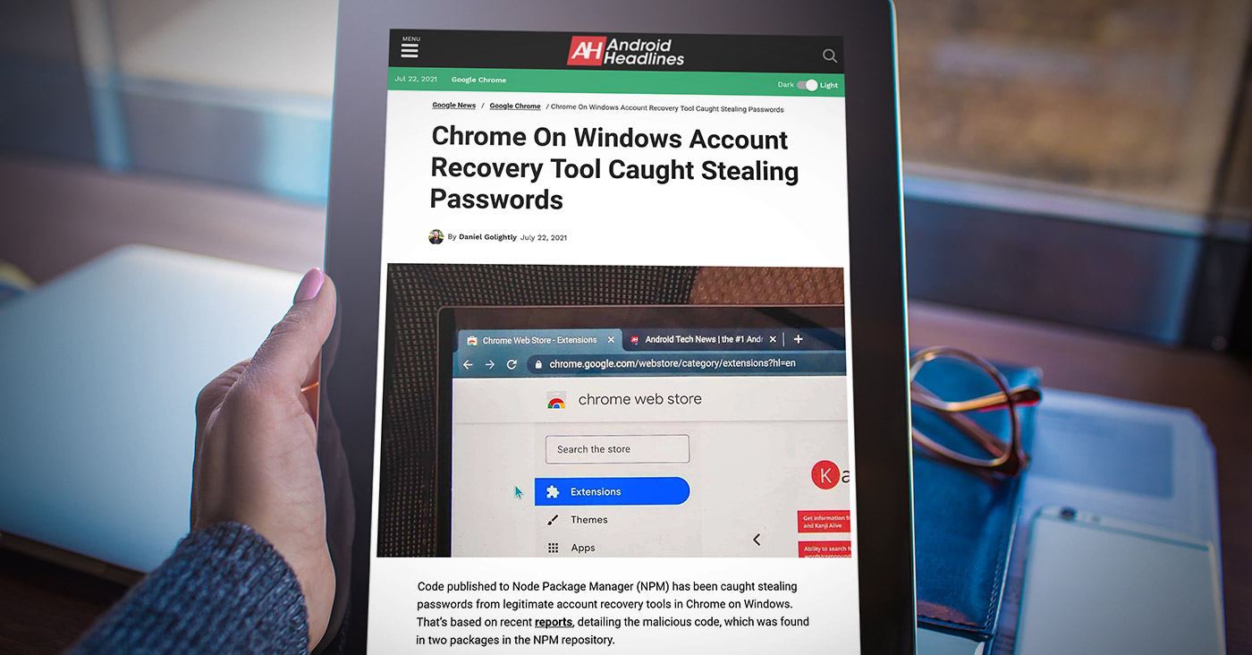 android-headlines-chrome-On-Windows-Account-Recovery-Tool-Caught-Stealing-Passwords