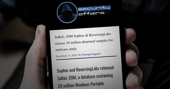 SoReL-20M Sophos & ReversingLabs release 10 million disarmed samples for malware study