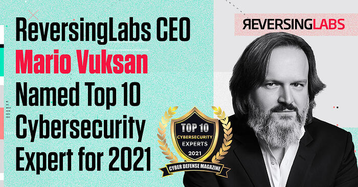 CEO Mario Vuksan Named Winner of the Top 10 Cybersecurity Experts for 2021