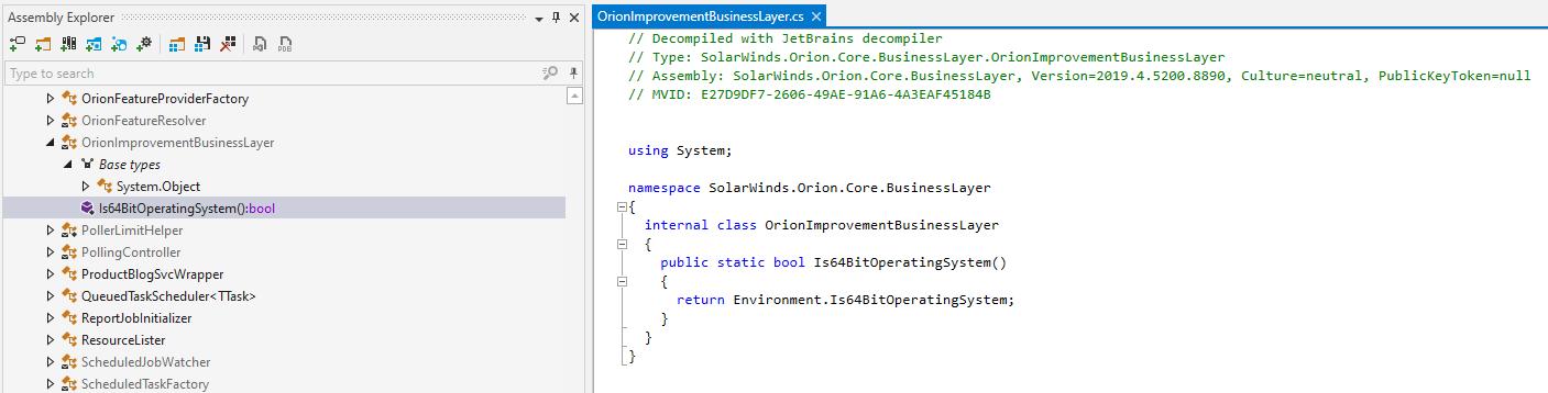 Empty .NET class prior to backdoor code addition [ver. 2019.4.5200.8890]