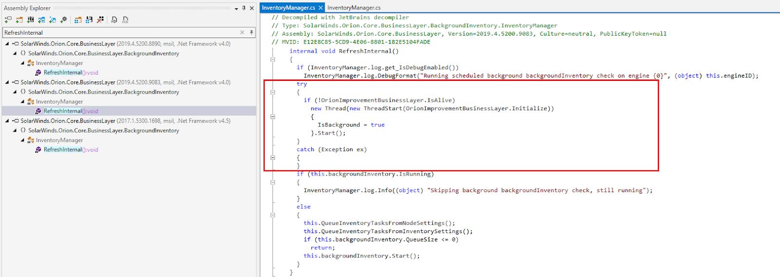 Modifizierter Quellcode
