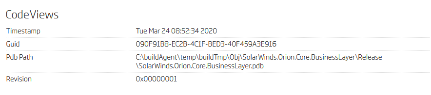 Backdoored library PDB symbols time [ver. 2019.4.5200.9083]