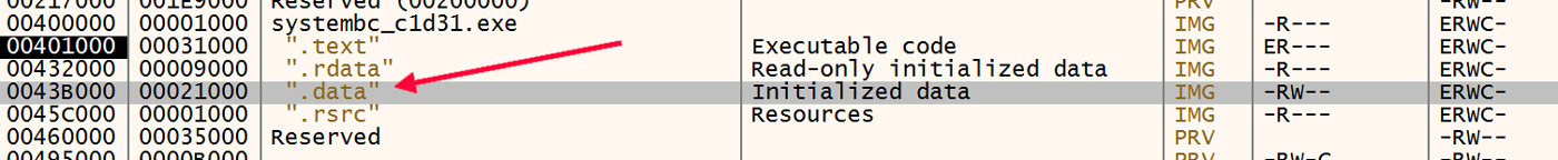 Initialized Data Section
