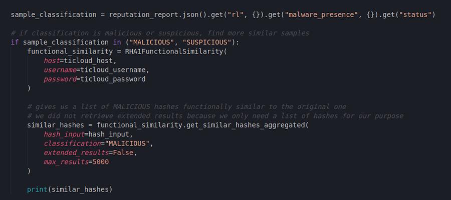 Obtaining functionally similar hashes