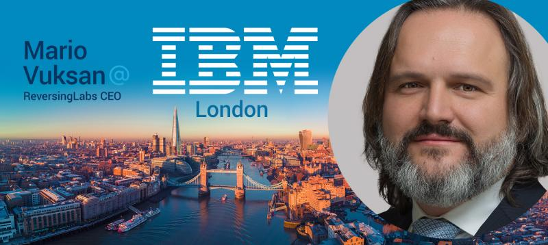 Mario Vuksan, CEO of ReversingLabs to speak at an IBM Cyber breakfast event
